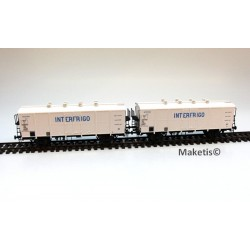 Coffret 2 wagons H1 INTERFRIGO Ep.III SNCF HO LS Models 30511 - Maketis