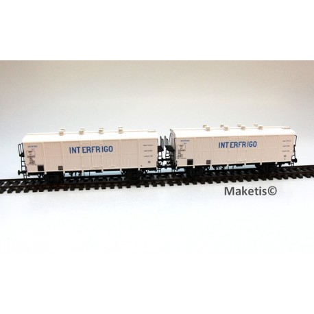 Set de 2 wagons couverts H1 INTERFRIGO Ep.IIIb SNCF HO LS Models 30511