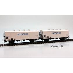 Set de 2 wagons couverts H1 INTERFRIGO Ep.IV SNCF HO LS Models 30512
