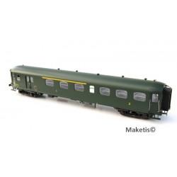 Coffret 3 Rapide Nord verte, toit vert Ep.IIId SNCF HO LS Models 40189 - Maketis