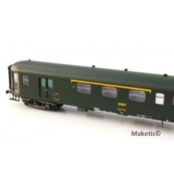 Coffret 3 Rapide Nord verte chassis gris Ep.IV SNCF HO LS Models 40199 - Maketis