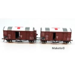Rame de 3 wagons couverts Oppeln DB/SNCF/OBB HO Exact-Train. Epoque III EX20190 MAKETIS