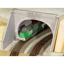 3 Entrées de Tunnel (parmi 10 modèles) pierres grises rectangulaires
