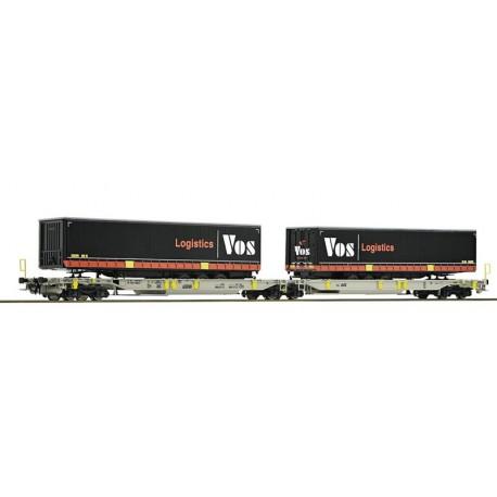 Wagon-poche articulé double AAE AG Vos Distrib Ep VI HO Roco 76417