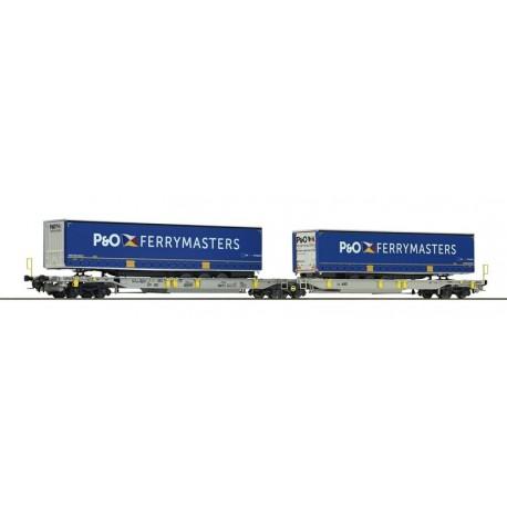 Wagon-poche articulé double AAE AG P&O Ep VI HO Roco 76420
