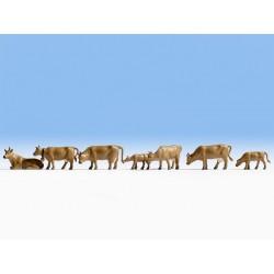 Vaches, brunes foncées HO Noch 15722