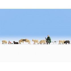 Berger et moutons HO Noch 15750