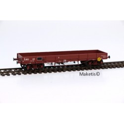 Wagon plat TP SNCF N° 20 87 388 5 719-1 Rklmm0-31, 3 roues pleines, 1 roue à rayons Ep.IV HO REE WB-396