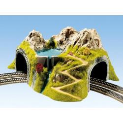 Tunnel de Coin, 2 Voies, 43 x 41 cm HO Noch 05180
