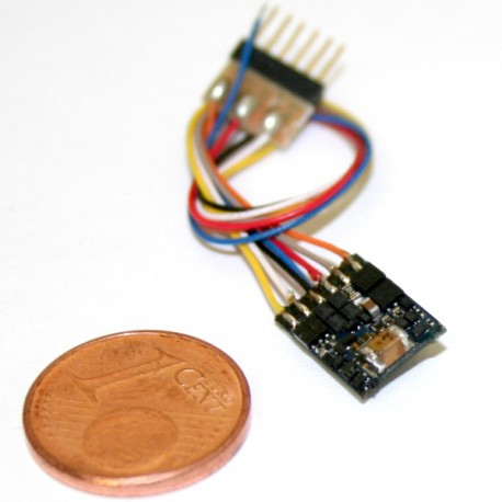 Décodeur LokPilot micro V4.0 DCC 6 broches NEM651 ESU 54684