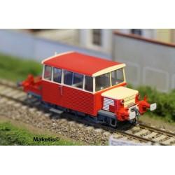 Draisine diesel DU65 4M 154 SUD-OUEST, toit ROUGE, logo ancien, Ep.III-IV - Analogique HO REE MB-072