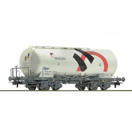 Wagon silo pulvérulent Holcim SBB Ep VI HO Roco 67449 - Maketis