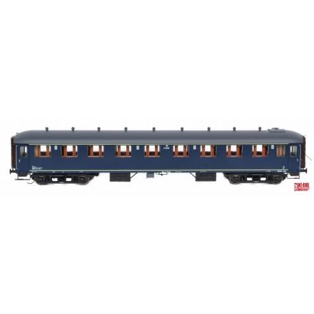 Voiture NS B6153 bleu Berlin, toit gris HO Exact-Train. Epoque IIIc