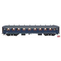 Voiture NS A7542 bleu Berlin, toit gris (Exclusivité Italie) HO Exact-Train. Epoque IIIb