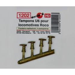 Tampons U6 pour locomotive Roco [HO]