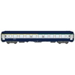 Voiture UIC Couchette A4C4B5C5 Bleu - Gris Argent 806 - Logo Nouille Ep.V TOIT HAUT HO REE VB-190