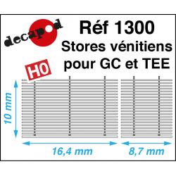 Jalousien für GC und TEE H0 Decapod 1300 - Maketis