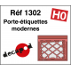 Grilles porte-étiquettes modernes (80 pcs) HO Decapod 1302 - Maketis