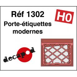 Moderne Etikettenhalter-Raster (80 St) H0 Decapod 1302