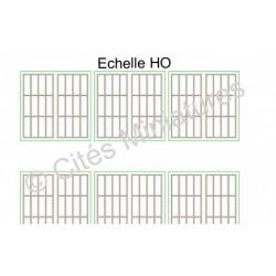 Fenêtres Remise / Atelier moyenne hauteur HOCités Miniatures ED-013a2-HO