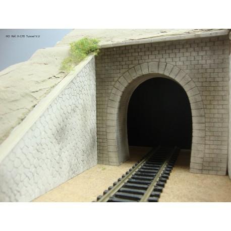 Portail tunnel voie unique Auverge HO - CMS Decor H-170D