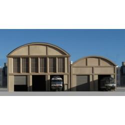 Atelier-Remise 3 voies faible profondeur HO Cités Miniatures BF-005-3-F