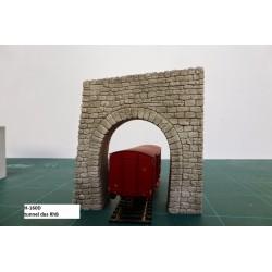 Tunnel des RhB échelle HO décoré - CMS Decor H-160D