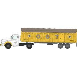"Tracteur Willeme et remorque kangourou ""O.G.T."" HO REE CB-074"