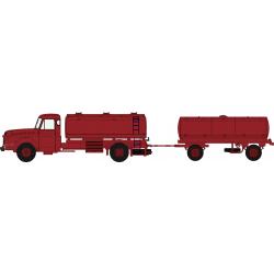 Camion Willeme citerne à vin et remorque rouge HO REE CB-070