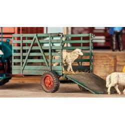 Remorque à bétail, en laiton HO Weinert 4525