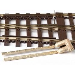 Contre rail en laiton, 1 paire. HO Weinert 74012