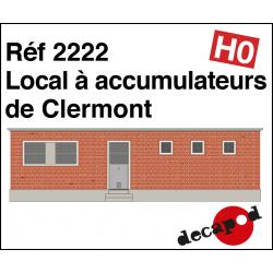 Local à accumulateurs de Clermont HO Decapod 2222 - Maketis
