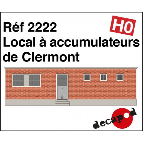 Local à accumulateurs de Clermont HO Decapod 2222 - Maketis