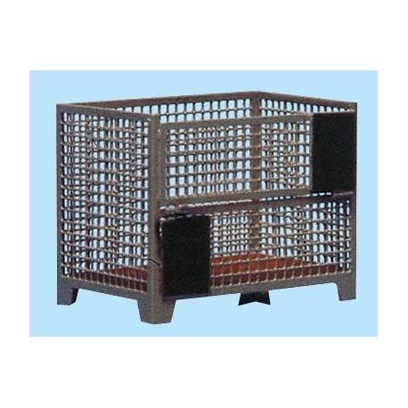Palette box à paroies grillagées, 2 pièces HO Weinert 3203