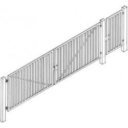 Portail pour zone industrielle, largeur 70mm HO Weinert 3227
