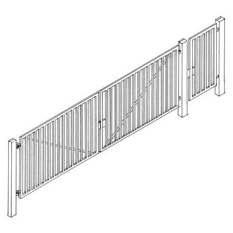 Portail pour zone industrielle Weinert, largeur 70mm