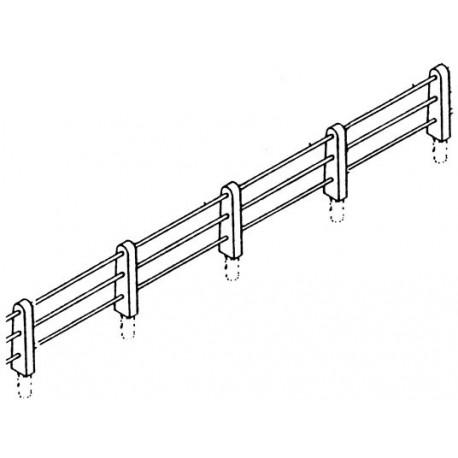 Clôture 3 rambardes avec poteaux en béton. HO Weinert 3382