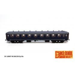 Voiture NS B6158 bleu Berlin, toit gris HO Exact-Train. Epoque IIIc