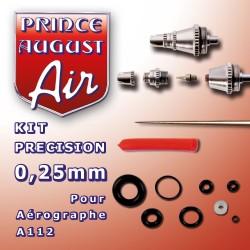 Kit de précision 0.25mm pour aérographe A112 Prince August