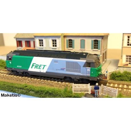 Locomotive diesel BB 467537, Dépôt de LONGUEAU, FRET Ep.V - Digitale Son HO REE MB 069S
