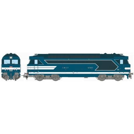 Locomotive diesel BB 67601, Dépôt de LONGUEAU Ep.IV-V - Digitale Son 3 Rails AC HO REE MB 064SAC