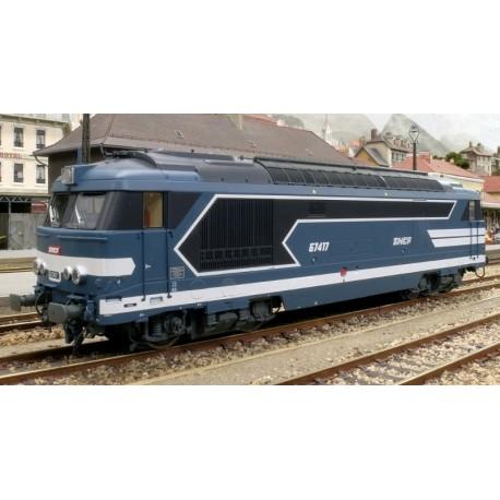 Locomotive diesel BB 67417, Dépôt de BORDEAUX, Logo nouille Ep.V - Digitale Son 3 Rails AC HO REE MB 065SAC