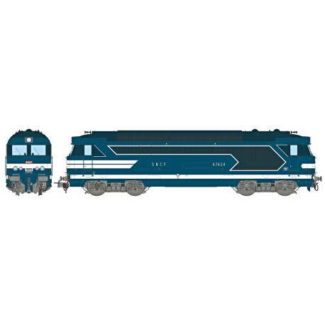 Locomotive diesel BB 67624, Dépôt de LIMOGES Ep.III-IV - Digitale Son HO REE MB 067S