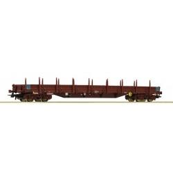 Wagon plat à rancher de l'Infrabel époque VI HO Roco 76980