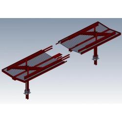 Abri parapluie moderne : 2 éléments d'extrémité [HO]