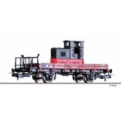 Wagon plat avec locotracteur Ep III DR HO TILLIG 76685