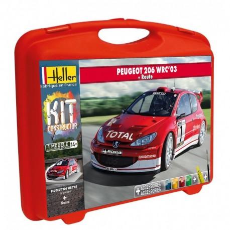 Malette PEUGEOT 206 WRC 2003 1/43 Heller 60113