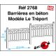 Barrières en béton modèle Le Tréport [HO]