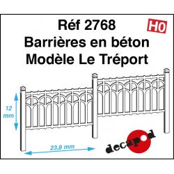 Barrières en béton modèle Le Tréport HO Decapod 2768 - Maketis