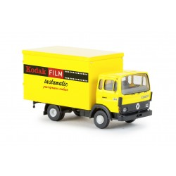 Camion Renault JN 90 bâché, bleu, bâche gris clair (Brekina 34850)